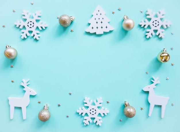 Draufsicht, weihnachtsfeiertagszusammensetzung.