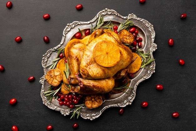 Draufsicht weihnachtsnahrungsmittelzusammensetzung