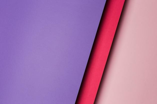 Draufsicht zusammensetzung der mehrfarbigen papierblätter