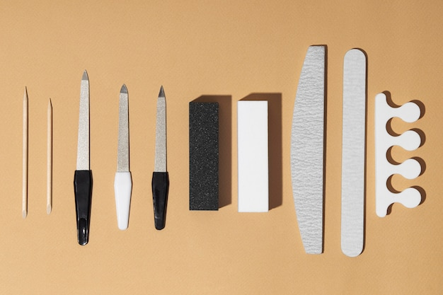 Draufsicht zusammensetzung der nagelpflegeprodukte