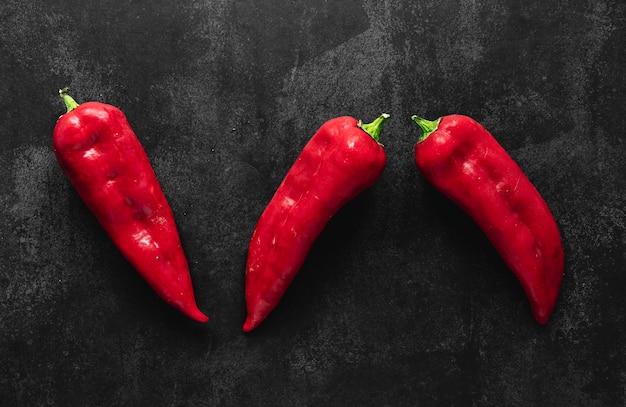 Draufsichtanordnung von kapia paprika