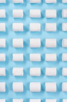 Draufsichtbild vieler weißer marshmallows