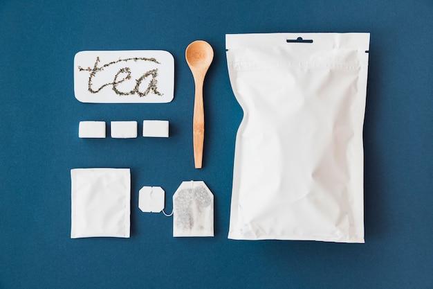 Draufsichtelemente zur zubereitung des tees