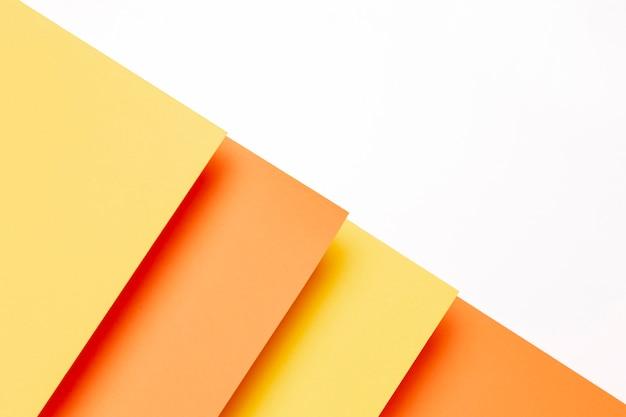 Draufsichtmuster mit schatten der orange nahaufnahme
