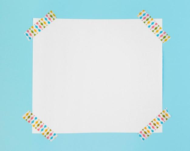 Draufsichtpapier mit aufklebern