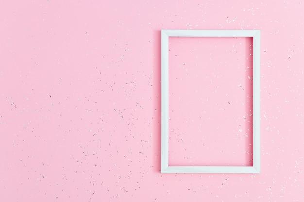 Draufsichtrahmen lokalisiert auf rosa