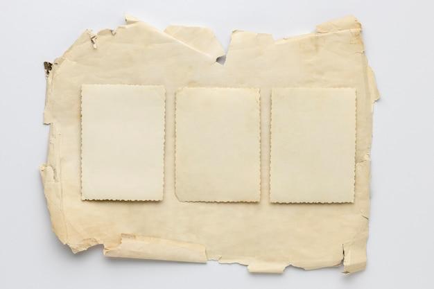 Draufsichtsortiment des alten papiers