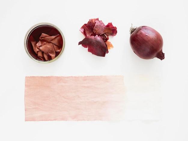 Draufsichttuch mit natürlichen pigmenten gefärbt