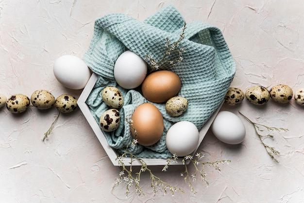 Draufsichtzusammensetzung mit eiern