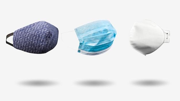 Drei arten von medizinischen masken: hausgemachte, medizinische und atemschutzmasken