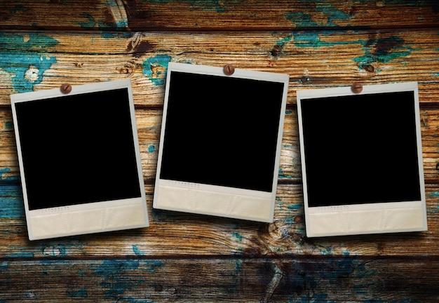 Drei polaroid hängen