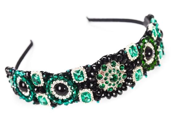 Drei schmuckstirnbänder für weibliches haar, handgefertigt