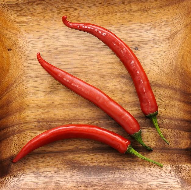 Drei süße red hot chili pepper