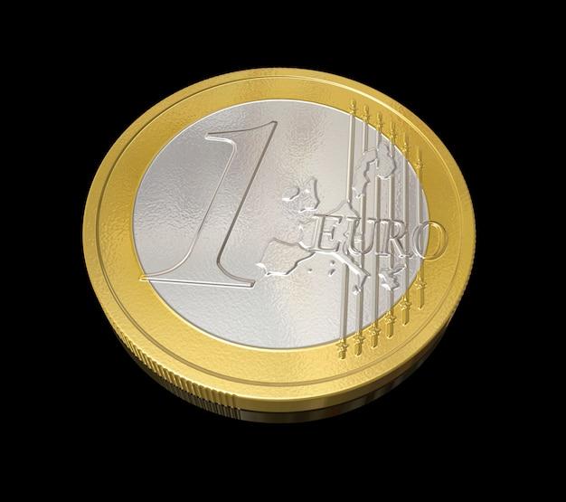Dreidimensionale euromünze