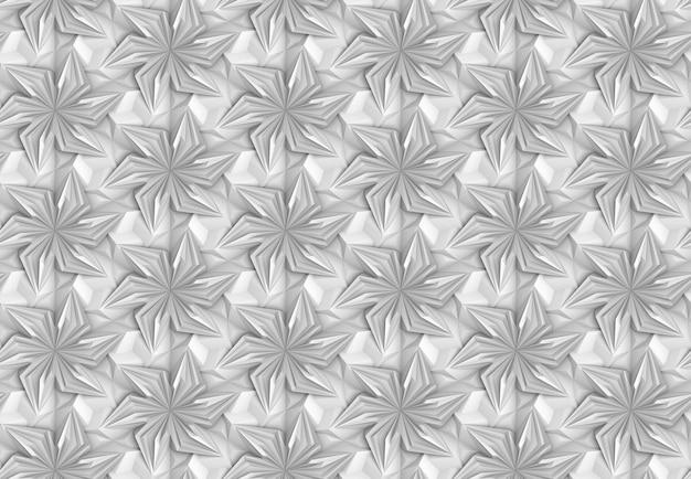 Dreidimensionale textur komplexer geometrischer elemente, die miteinander verflochten sind 3d-illustration