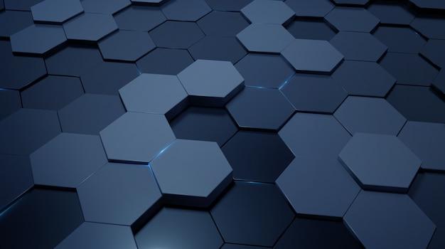 Dreidimensionaler 3d-hintergrund der kommerziellen wissenschaft und technologie