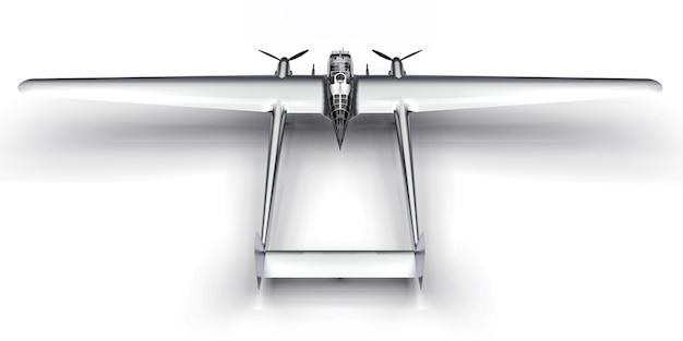 Dreidimensionales modell des bomberflugzeugs des zweiten weltkriegs