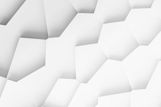 Dreidimensionales muster des in viele einzelteile zerlegten oberflächenelements