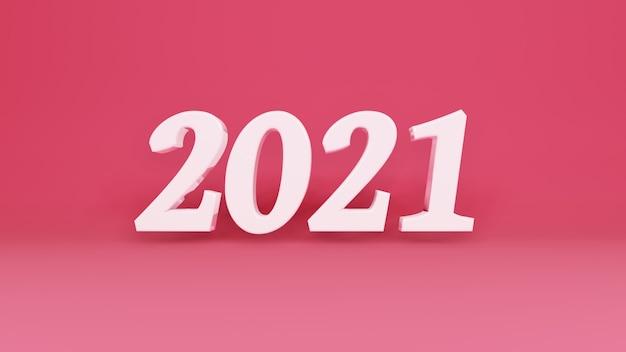 Dreidimensionales zeichen 2021 zweitausend einundzwanzig jahr