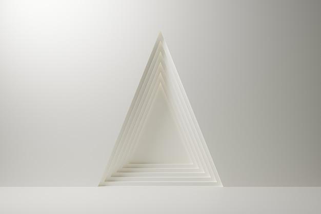 Dreieck mehrschichtige zusammenfassung auf weißem hintergrund.