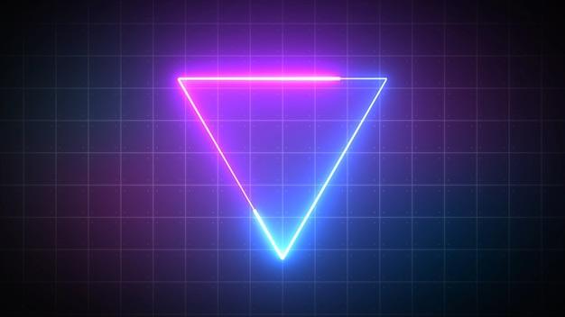 Dreieck mit laserstrahl