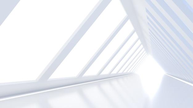 Dreieckiger korridor ähnlich einem raumschiff