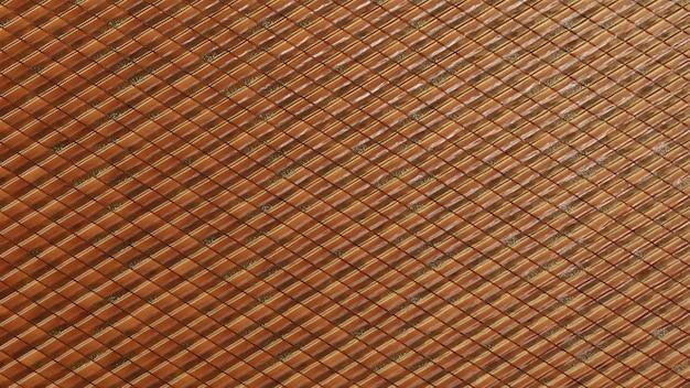 Dreieckiger luxuriöser wandhintergrund mit fliesen goldfliesentapete mit 3d-polierten blöcken