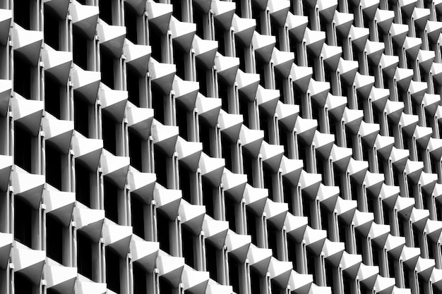 Dreieckmuster der architektur geometrisch. schwarzweiss des abstrakten hintergrundes.