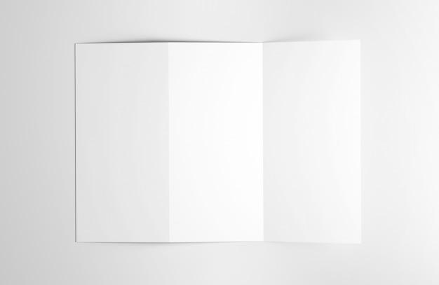 Dreifachgefaltete broschüre - wiedergabe 3d