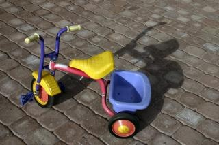Dreirad, spielzeug