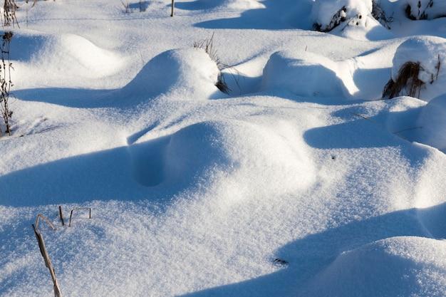 Driftet nach dem schnee