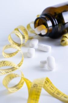 Drogen verlieren gewicht konzept diät schlank essen pillen gesundheitswesen und medizinische pille