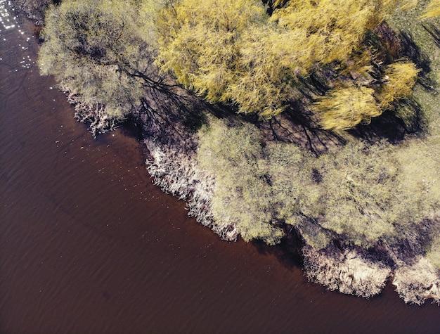 Drohne bild der landschaft