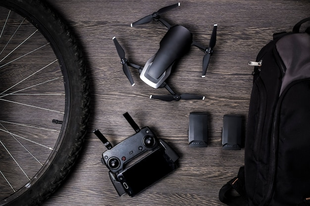 Drohne und fahrradrad