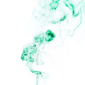 Dünner grüner rauch