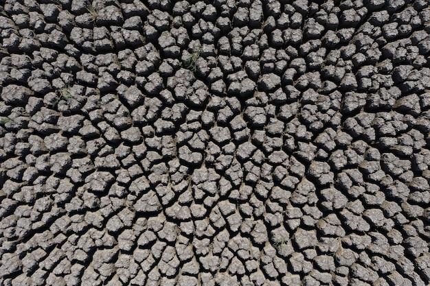 Dürre tief rissiger erdhintergrund beleuchtet von der sonne