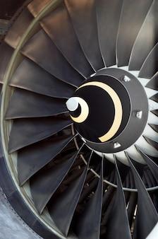 Düsentriebwerk des flugzeugs