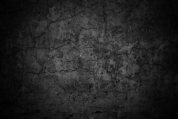 Düstere wand, dunkler hintergrund, schwarze zementstruktur