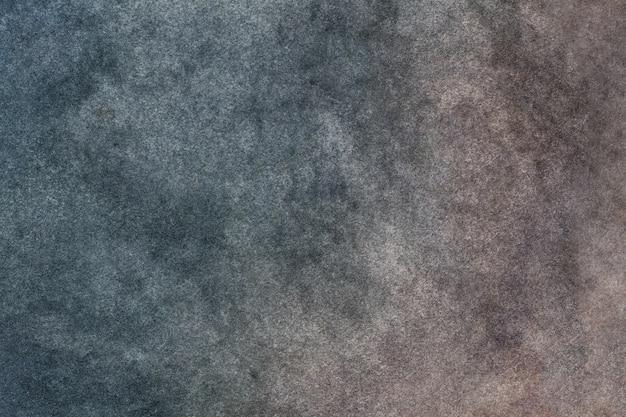 Dunkelblaue und braune farben des hintergrundes der abstrakten kunst. mehrfarbenaquarellmalerei auf segeltuch