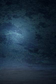 Dunkelblaue vintage textur wandkratzer unscharfen fleck hintergrund. marmor design fotostudio porträt hintergrund, banner website weiches licht. 3d-rendering