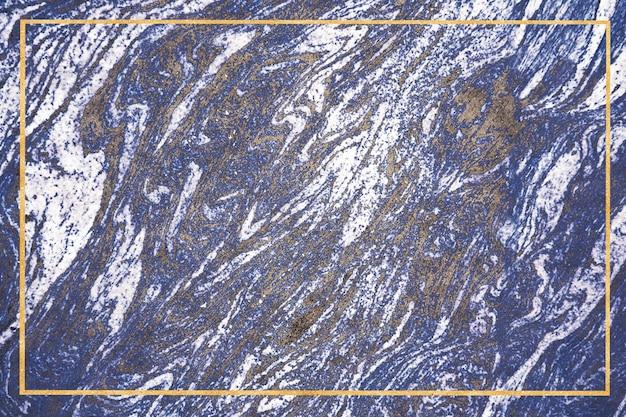 Dunkelblauer mineralgoldrand und weißer granitmarmor-luxusinnentextur-oberflächenhintergrund