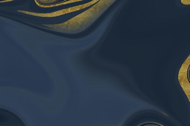 Dunkelblauer und goldener marmorabstrakter hintergrund