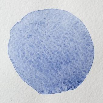 Dunkelblauer violetter hand gezeichneter quadratischer hintergrund des abstrakten aquarellkreises. platz für text, schrift, kopie. runde postkartenvorlage.