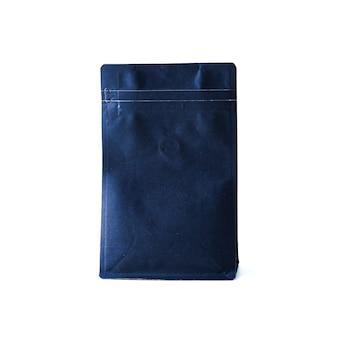 Dunkelblaues papier-druckverschlusspaket mit ventil für geröstete kaffeebohnen