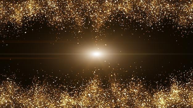 Dunkelbraun mit kleinen partikeln, die sich zu goldgelben lichtwellen zusammenballen.