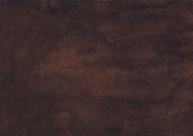 Dunkelbraune hintergrundtextur des aquarells