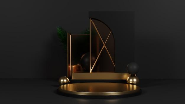 Dunkelgold-luxus-podium