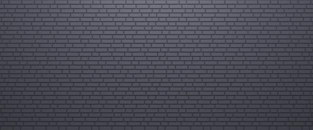 Dunkelgraues backsteinmauerbeschaffenheitshintergrundpanorama des mauerwerks