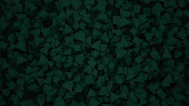 Dunkelgrünes geometrisches dreieckmuster, abstrakter hintergrund. eleganter und luxuriöser stil für geschäfts- und unternehmensvorlagen, 3d-illustration