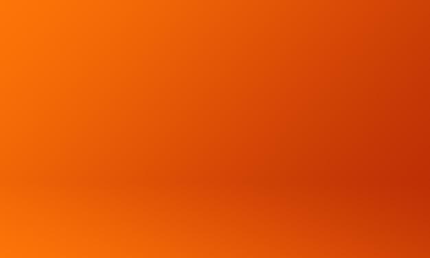 Dunkelorange farbverlauf des studiohintergrunds